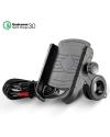 ADSDIA Motorcycle Phone Mount W/ QC 3.0 USB Charger Socket Motorcycle Handlebar Mount